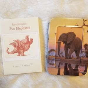 2 Elephant Card Sets One Tin & One Folder New